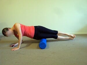 Foam roller for ITB syndrome, knee pain