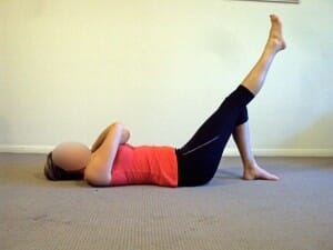 Single leg bridge - glut medius activation for hip stability