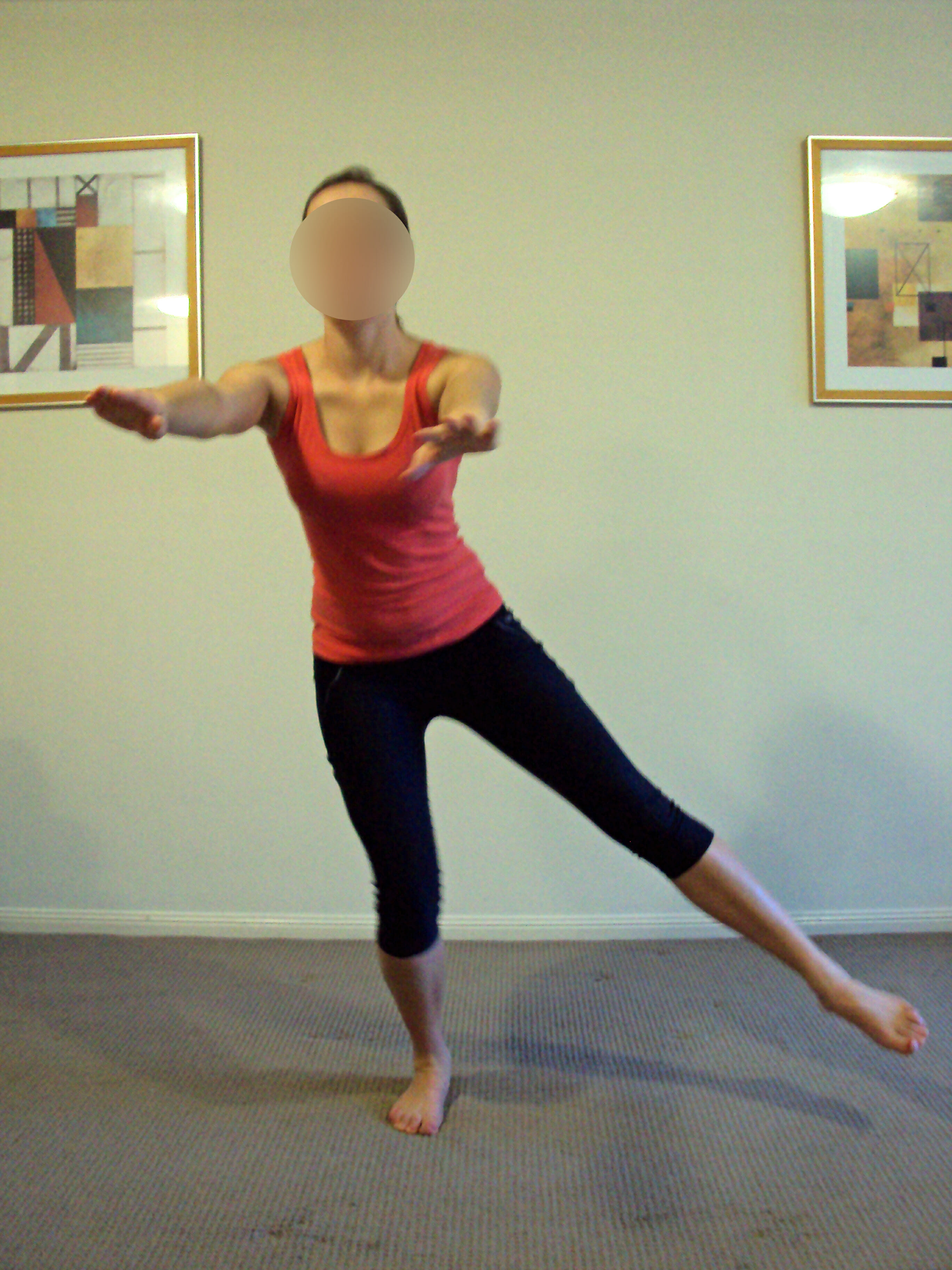 Single leg Squat, Glut Med activation - hip stability and strength