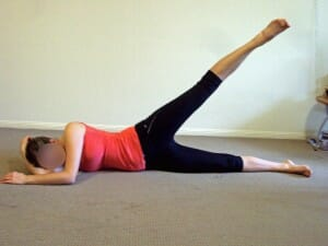 Side lying Abduction exercise for hip and glut strengthening