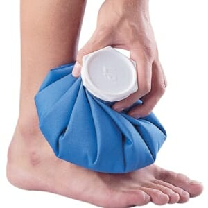 sprain strain self treatment ice rest compress