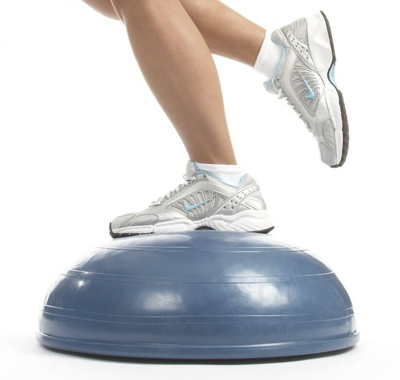 Bosu ball, wobble board ankle and calf re-training rehab quick