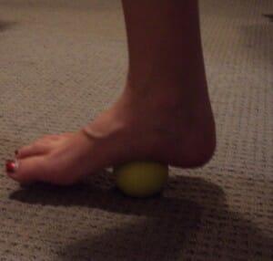 Myofascial release foot pain, plantar fasciitis