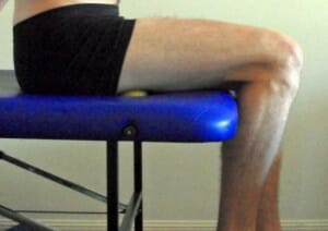 hamstring tight MFR - self muscle release