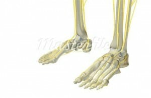 nerve compression in foot causing numbness