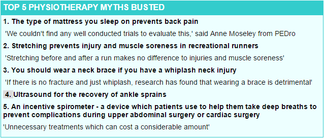 Does physio work, yes but these are myths