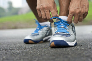 Numb feet when running lace up properly