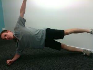 Side plank leg raises