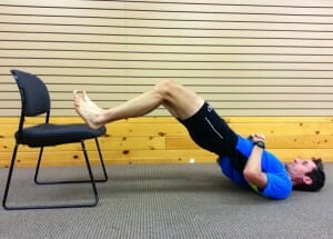 Hamstring chair bridges