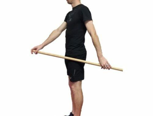 Active assisted shoulder flexion