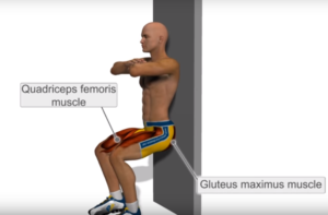 wall sit exercise for knee pain arthritis
